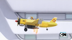 Tails Plane hovering