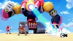 Team Sonic vs Giant Robot