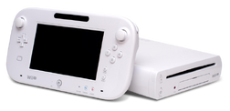 Wii U console and controller