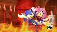 Tails' Workshop burning