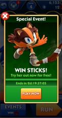 Evento da Sticks