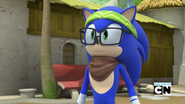 Hipster Sonic cute moment