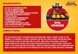 Evil Cookies recepie