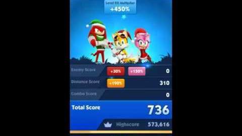 Sonic Dash 2 Sonic Boom Glitch