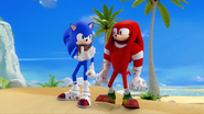 Knuckles and Sonic (Mirror Dimension)