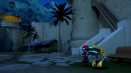 Orbot and Cubot waitin' for Barker