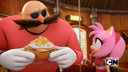 Amy consulting Eggman
