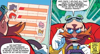 """Eggman revisando o """"Projeto Hodge Podge"""""""