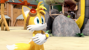 Tails feels glorious and victorious
