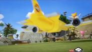 Tails' plane vs. Amy