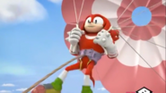 Knuckles is flying