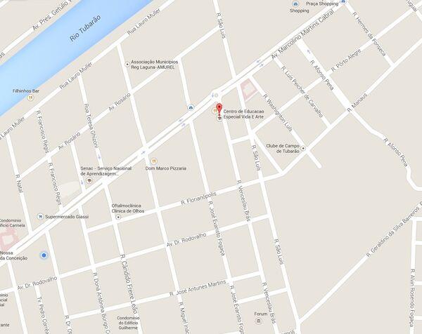Entidades - Centro de Educação Especial Vida e Arte - mapa