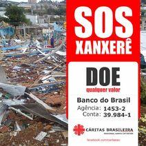 Camapnha logo caritas SOS Xanxerê SC