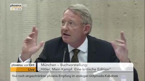 """Buchvorstellung """"Hitler, Mein Kampf. Eine kritische Edition"""" am 08.01"""