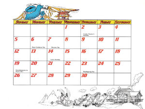1978 calendar 11 November b