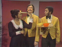 Maria trains Bob and David to be waiters