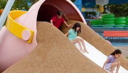 Sesame Place - silly sand slide