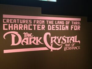 The Dark Crystal Age of Resistance MoMI Exhibit Logo