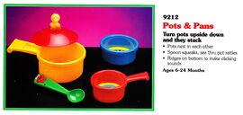 Tyco 1994 pots & pans