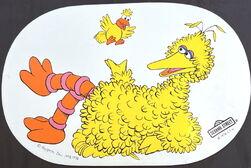 Placemat 1976 sesame big bird