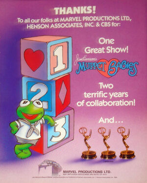 Muppet Babies Emmy Award ad two terrific years