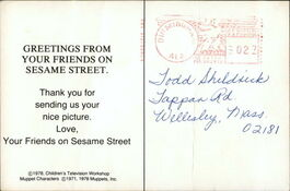 Postcard greetings from sesame 2