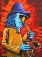 Giclee zoot the sax by trevor carlton