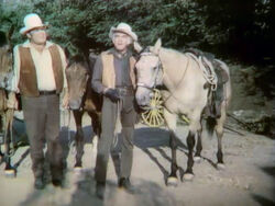 Lorne Greene 2 horses from 3