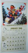 Sesame street calendar 1998 01