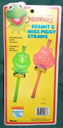Superseal kermit miss piggy straws