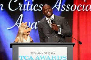2014 Television Critics Association Miss Piggy Terry Crews