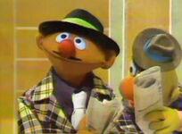 Julie on Sesame Ernie mustache