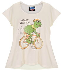 Junk food disney store 2011 shirt kermit bicycle