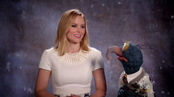 Kristen Bell and Gonzo