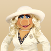 Miss Piggy white outfit and hat