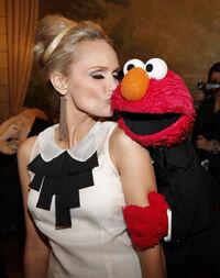 Kristin Chenoweth and Elmo
