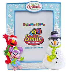 Sesame place frame furry christmas