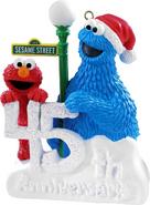 CarltonOrnament-SesameStreet45thAnniversary-Elmo&CookieMonster-(2014)