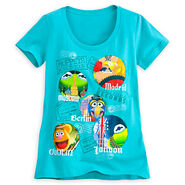 Disney store 2014 world tour t-shirt women