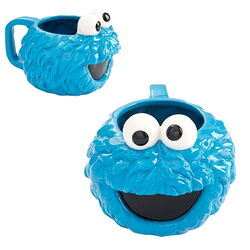 Vandor 2017ish cookie monster sculpted ceramic mug