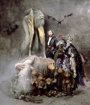 Jim Henson and Dark Crystal creatures