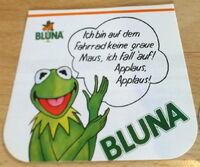 Bluna orange soda 1981 german stickers 2a