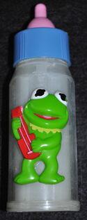 Hg toys 1985 kermit muppet babies bottle