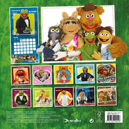 The Muppets Official Calendar 2013 back