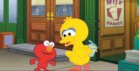 Fun Fun Elmo birdseed milkshake