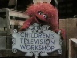 Red monster CTW sign