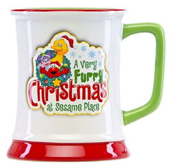 Sesame place mug furry christmas