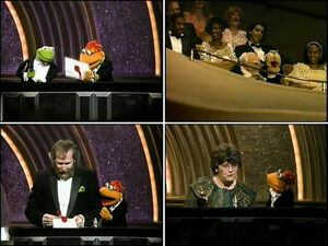 The58thAcademyAwards-Kermit,Scooter&JimHenson-(1986)