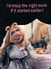 Piggy night card