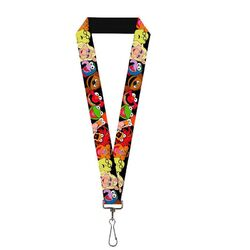 Buckle-down keychain lanyard muppets faces